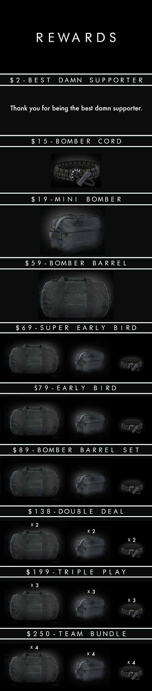 Bomber Barrel - Rewards
