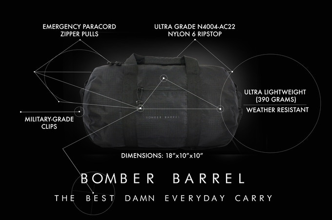 Bomber Barrel - Duffle Bag