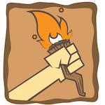 """Find your fire"" Sticker"