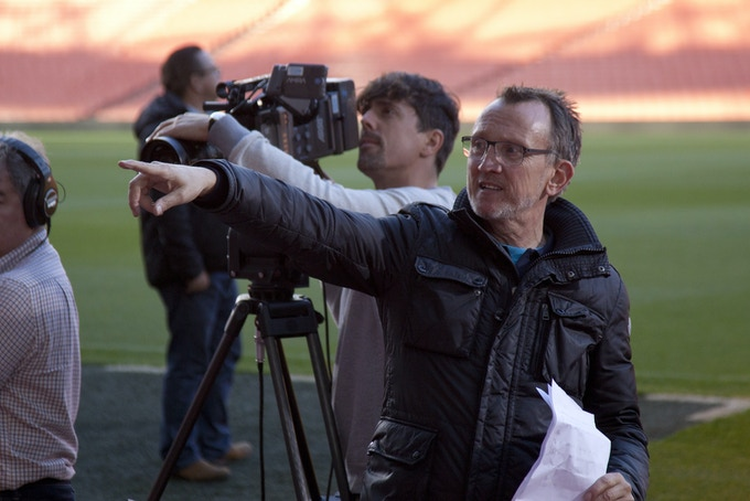 Steve Barron directing the upcoming Mike Bassett: Interim Manager kickstarter exclusive teaser video