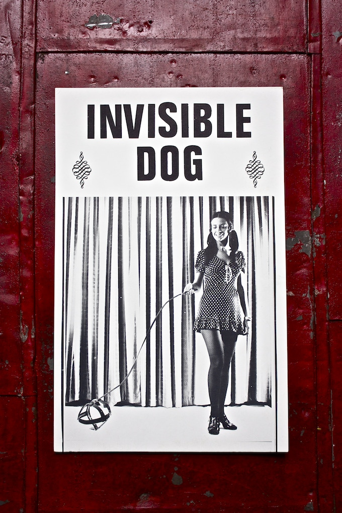 Invisible Dog Vintage Poster 14 x 9