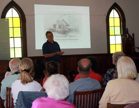 "Don Wilding presents his ""Henry Beston's Cape Cod"" at the Chapel in the Pines in Eastham on Cape Cod, 2012."