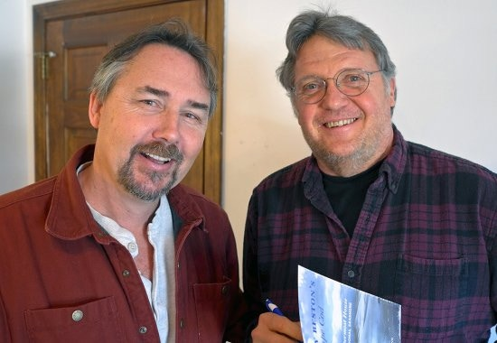 Don Wilding, right, with Cape Cod nature writer David Gessner, February 2014.