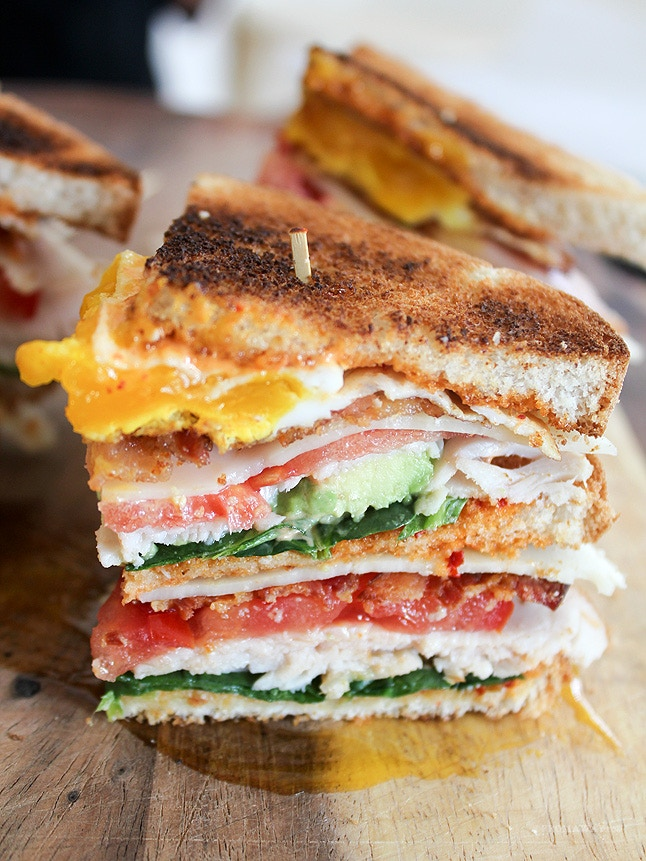 My version of a club sandwich.