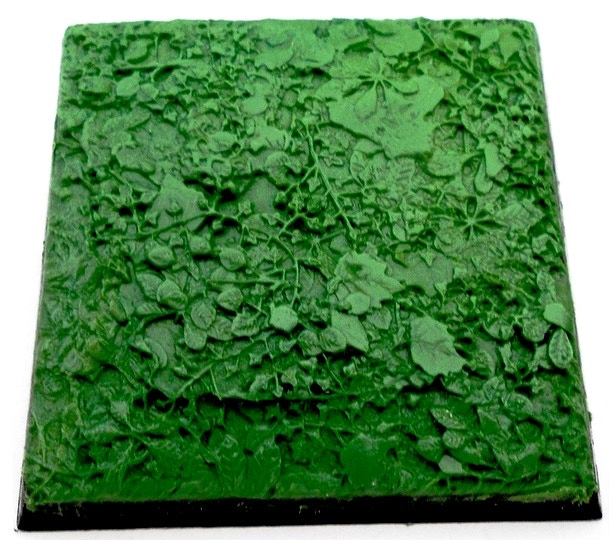 'green stuffed' 40mm square base - made using BASIUS: FOREST