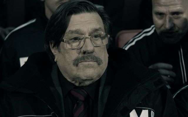 Ricky Tomlinson on the set of the upcoming Mike Bassett: Interim Manager kickstarter exclusive teaser video