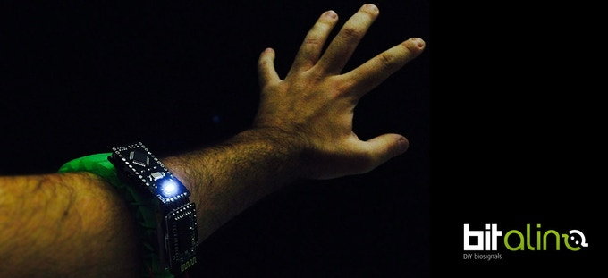 BITalino armband controller using muscle & gestures