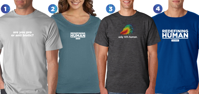 Choose from four shirt styles