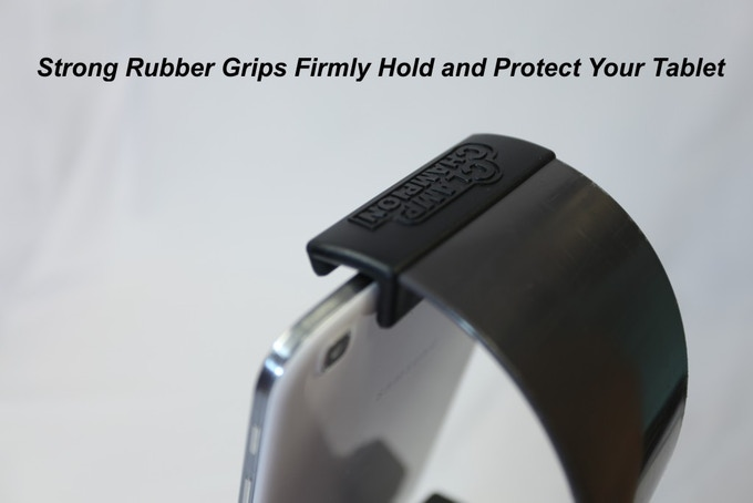 Strong rubber grips firmly hold and protect your tablet!