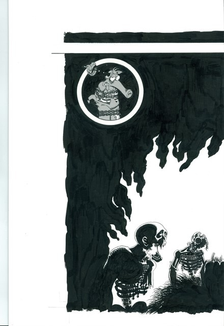 """BP #11 - 11"""" x 17"""" color reproduction of the alternate back cover of Cerebus Archive #1"""