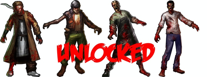 Zombie Versions - The Hobo, The Oddball, The Killer, The Detective