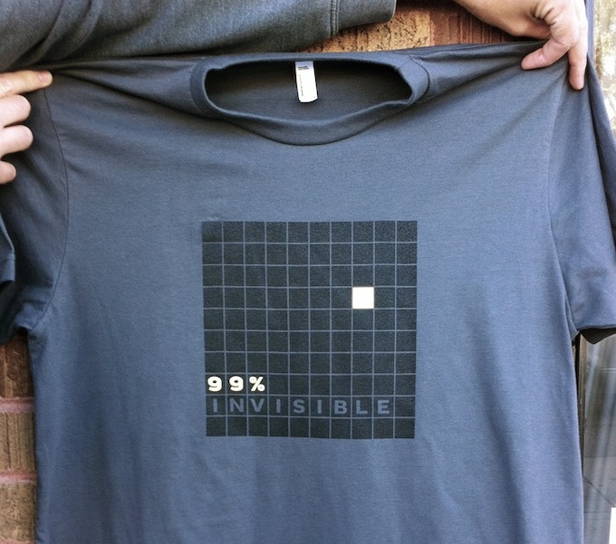 99% Invisible Logo t-shirt- available in Men & Women sizes
