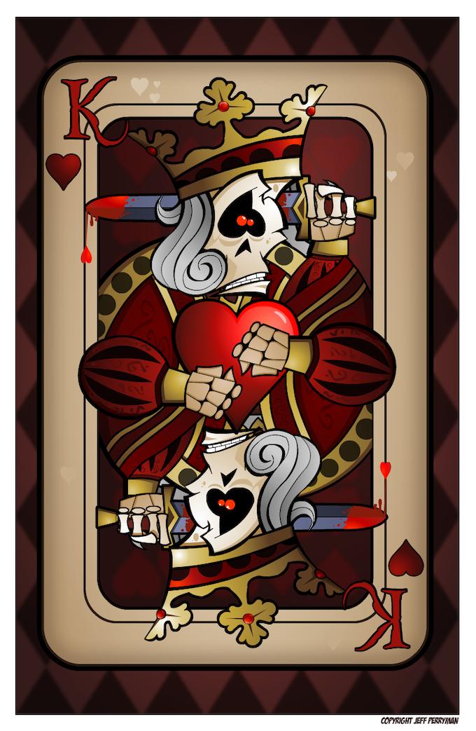 King of Hearts Print