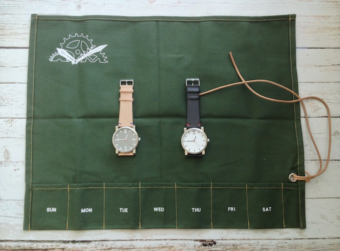 Watch with  packaging - green version.