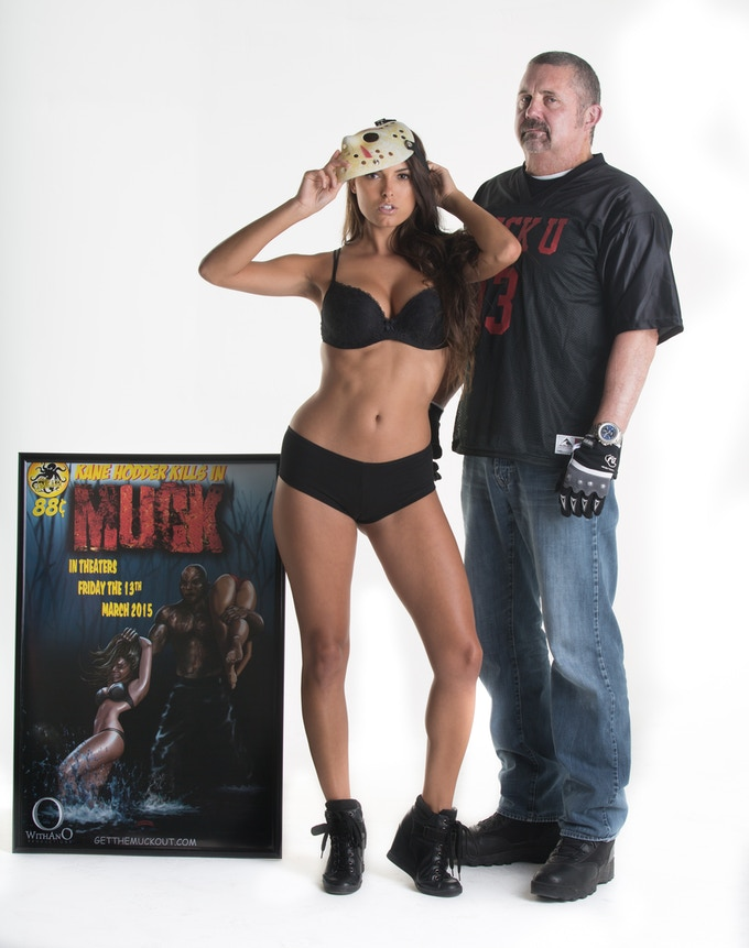 """MUCK"" Kane Hodder Jersey, Autographed Limited Edition Poster and Autographed Hockey Mask"