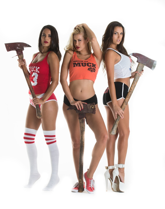 "Limited Edition Prop Axes Used in ""MUCK, Womens ""MUCK"" tops and bottoms"