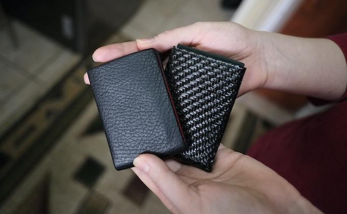 Leather or Kevlar Carbon Fiber Hybrid NERO Wallet