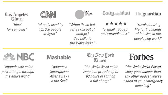 WakaWaka got some great press over the last two years!