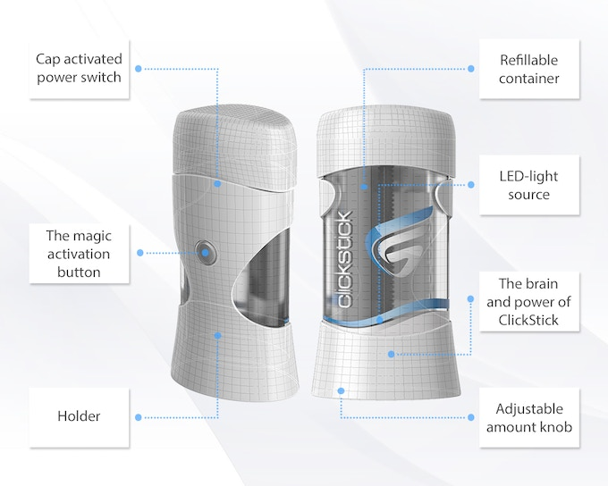ClickStick: The World's First Smart Eco-friendly Deodorant by Gilad