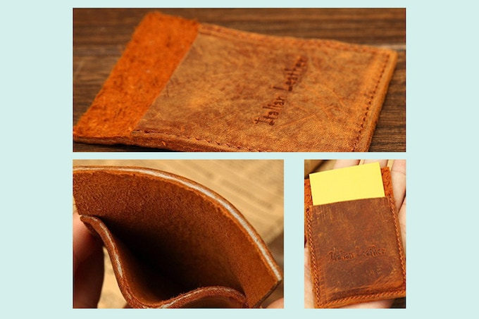 Pledge $35: Receive a Raw, Vintage leather card holder