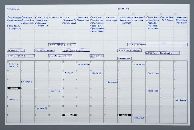 Kickstarter Calendar Planner : Pivot calendar plan your big picture by