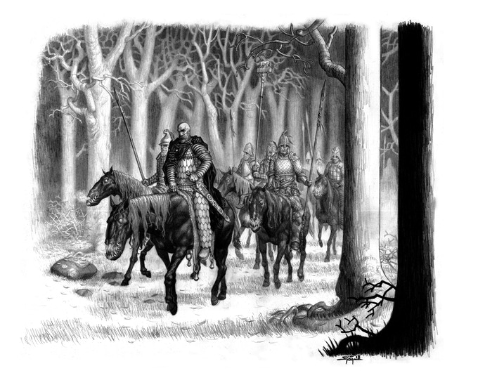 Black Horse Riders (by Per Sjogren from The Guide to Glorantha)