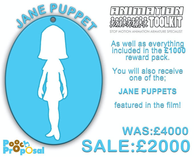 As well as everything included in the £1000 reward pack, you will also receive a recast of the original JANE PUPPET featured in the film!
