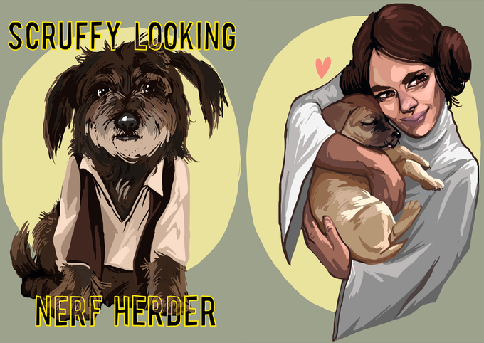 Scruffy Looking Nerf Herder shirt / Leia Loves Puppies shirt