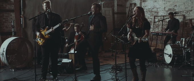 A frame from The Lone Bellow's studio based one-take