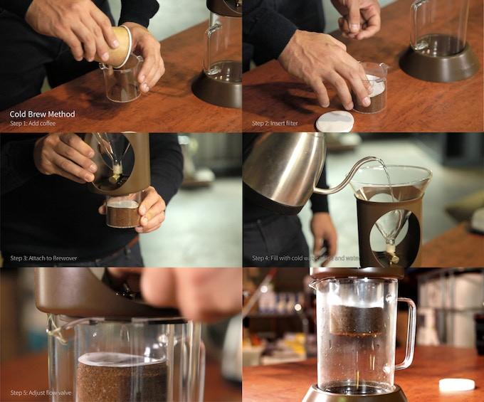 Cold brew method photograph