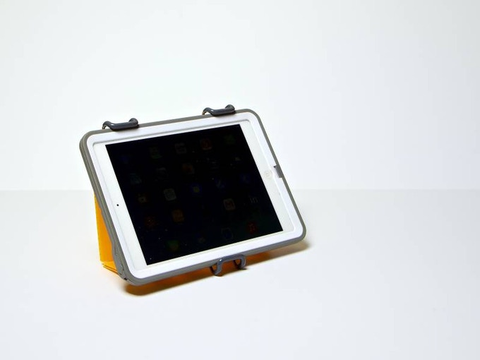 SmartStand for tablets with an iPad in a protective case