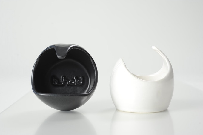 Prototype Bheard Sound Pod in 3D Printed Ceramic