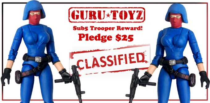 Guru Toyz Sub5 Trooper Action Figure Reward!