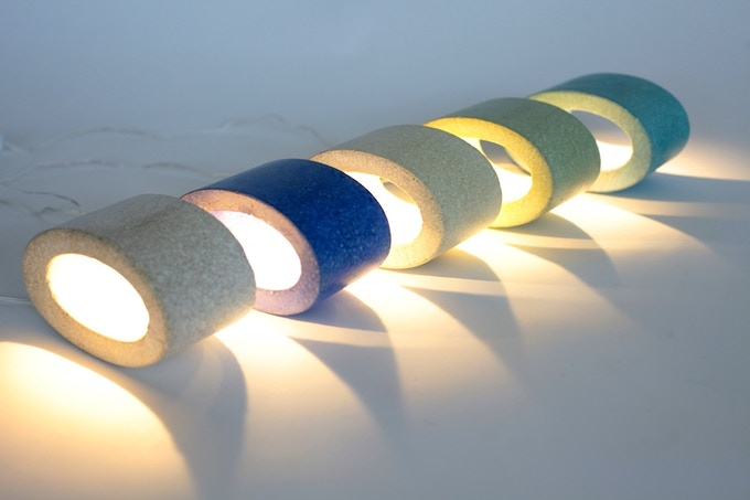Mini ellipse lamps in colors