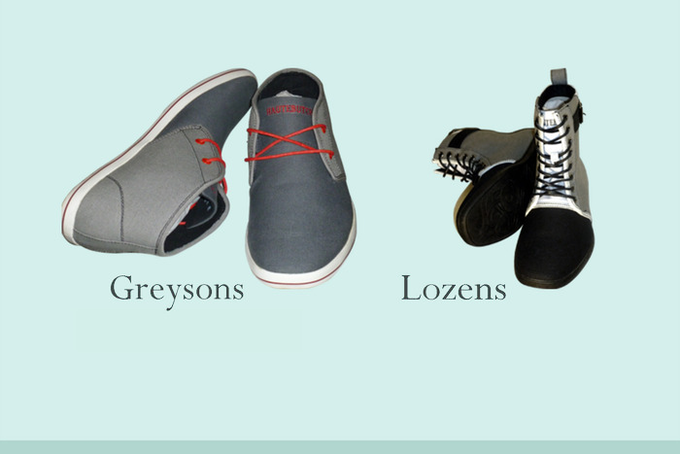 Pledge $125 or $149 CHAMPION or CONQUEROR - includes a pair of Greysons or Lozens respectively, wooden tie clip above and Newsboi Cap below.............Greyson's run a size larger : Lozen's fit true to size.