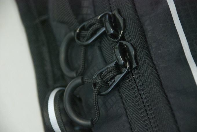 Zipper molded U shape loops