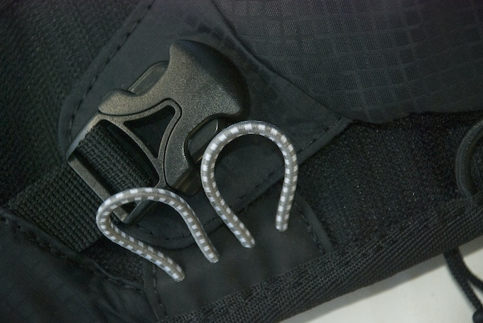 Bungee cord loops & pouch attachmaent