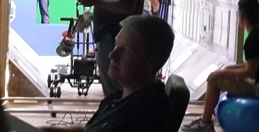 Doug checking the monitor