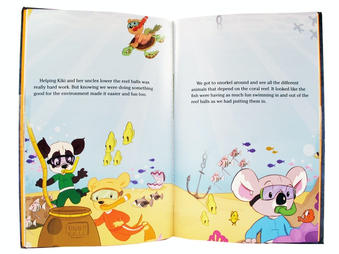 A scene from Zylie's Adventure Down Under, included in the Kiki Adventure Kit!
