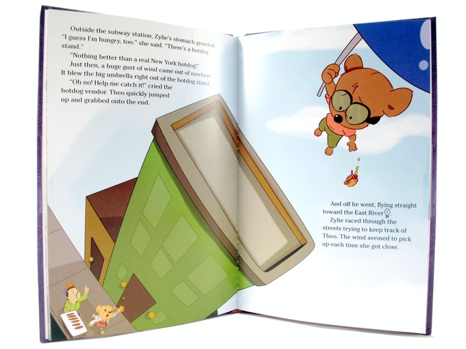An exciting scene from Zylie's Adventure in the Big Apple, included with the Zylie Adventure Kit!