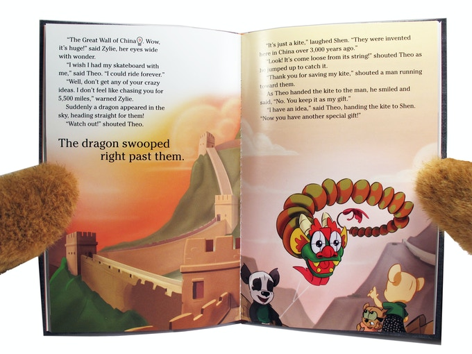 A scene from Zylie's Adventure on the Silk Road, included with the Shen Adventure Kit!