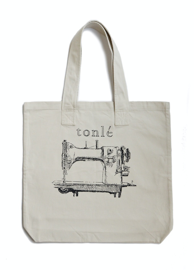 tonlé basic tote made from remnant canvas