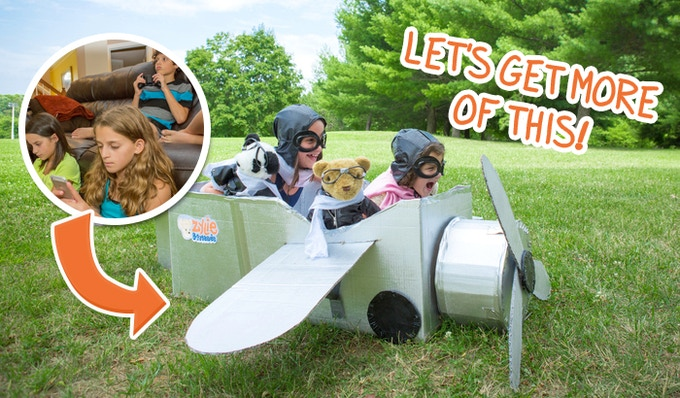 Get out and play! The Bratayley girls channeling their inner Amelia Earhart!