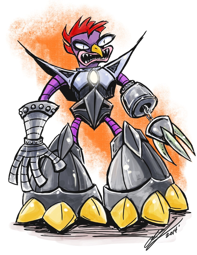 HG Chicken illustration, offered as a reward on prints and t-shirts.