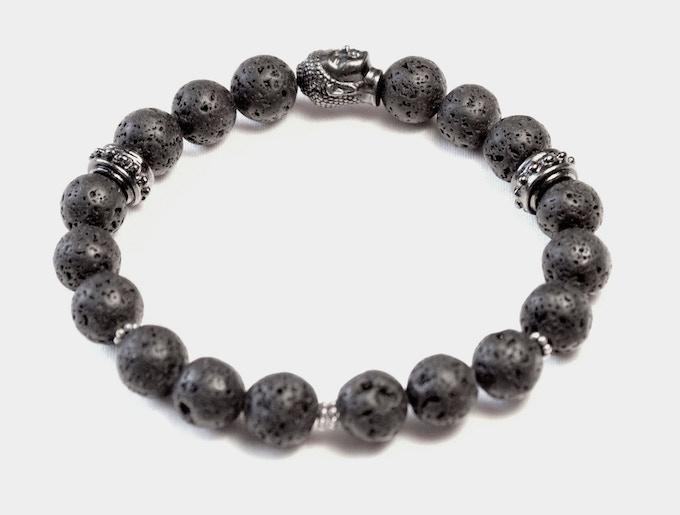 Men's Buddha Lava Stone Bracelet (Reward #8 option)