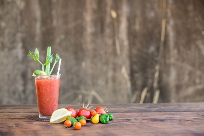 Bloody Mary Mix, one of our products made from County Line Harvest produce. Photo by Kate Webber