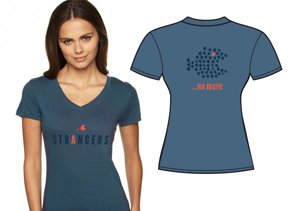 Strangers women's t-shirt (one of the available colors). Designed by Matt Jeans.