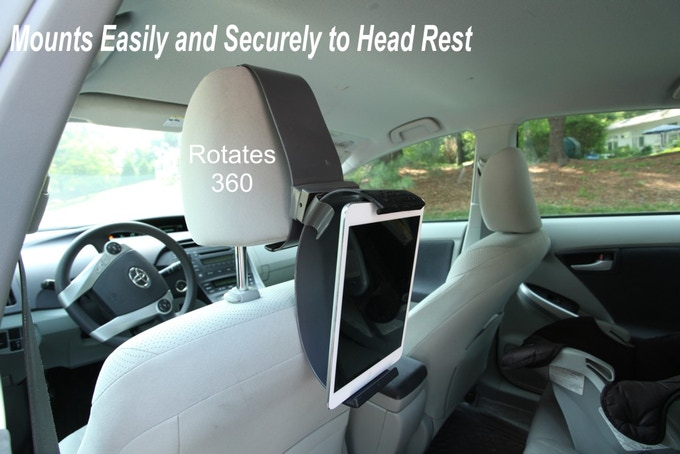 Mounts To  Your  Head Rest