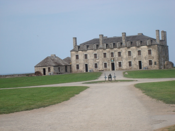 Old Fort Niagara located in New York, previously in Canada