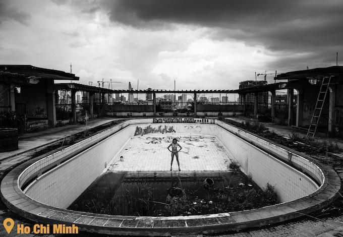 #7 - Abandoned rooftop pool*